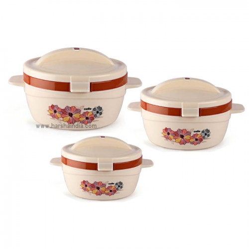 Cello Insulated Hot Pot Flip Top  3pcs Set (500 850 1500)
