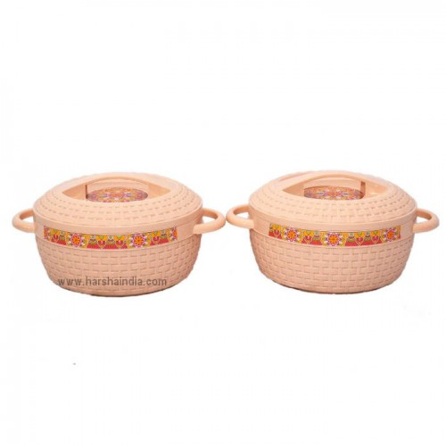Cello Insulated Hot Pot Wicker 2PC Set 1000ML+1000ML