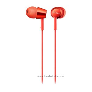 Sony Ear Phone MDR-EX155/RQIN Red