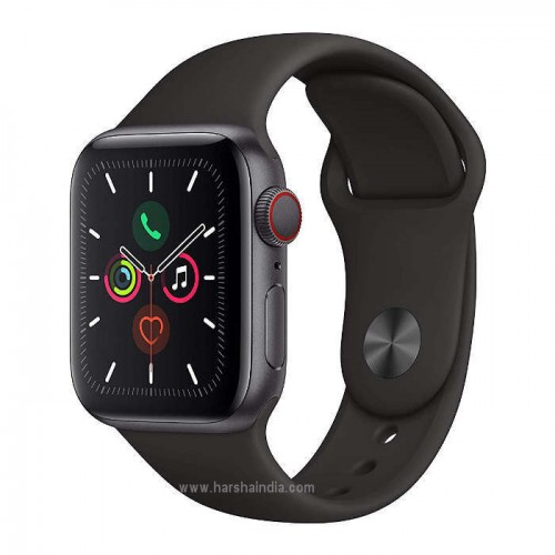 Apple Watch Series 5 40mm Space Gray Alum Case Black Sport Band MWX32HN/A
