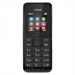 Microsoft Cell Phone 105 Single Sim Black