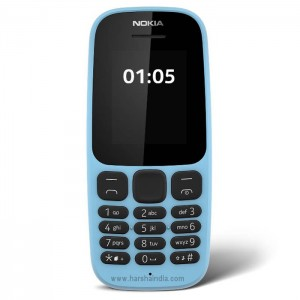 Microsoft Cell Phone 105 Single Sim Blue