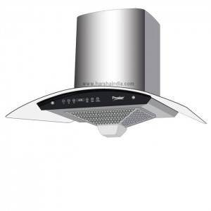 Prestige Auto Clean Glass Kitchen Hood 90CM AKH 900CN 1100M3 41630