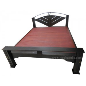 SF Double Cot Walnut