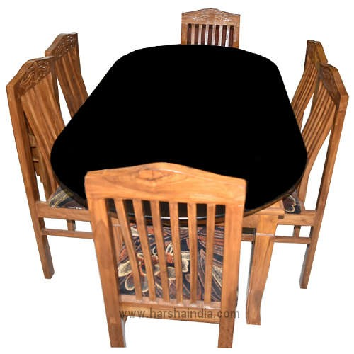 GW Teakwood Dining Table With 6 Chairs