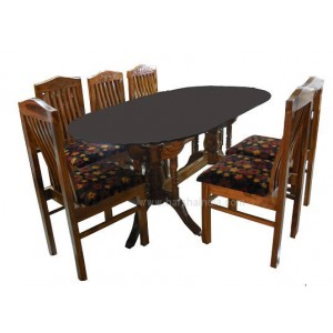 GW Dining Table Spring Kamal With 6 Chairs