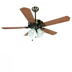 Orient Ceiling Fan 1300MM Subaris Antique Brass Oak Blades With Light