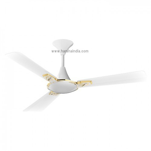 Crompton Ceiling Fan 1200MM Aura 2 Designer 3D Anti Dust Lotus Pearl White Gold