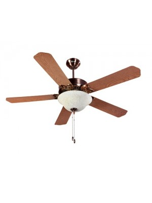 Orient Ceiling Fan 1300MM Subaris Solo Antique Copper Blade Oakwood