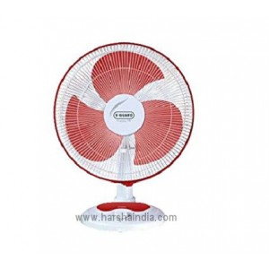 V-Guard Table Fan 400MM Finesta Red White