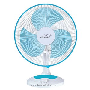 V-Guard Table Fan 400MM Finesta Blue White