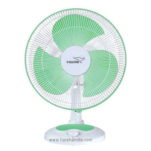 V-Guard Table Fan 400MM Finesta Green White