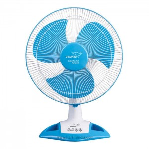V-Guard Table Fan 400MM Superflow HST Blue White