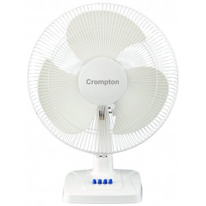 Crompton Table Fan 400MM HS Whirlwind Gale KD White
