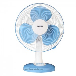 Usha Table Fan 400MM Mist Air Icy Blue
