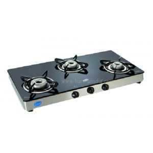 Glen Gas Stove Glass Top 3 Burner GL-1038  GT Auto Ignition
