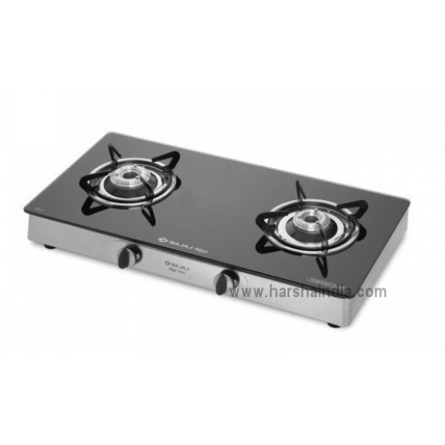 Bajaj Gas Stove Glass Top 2 Burner CGX2 Economy SS