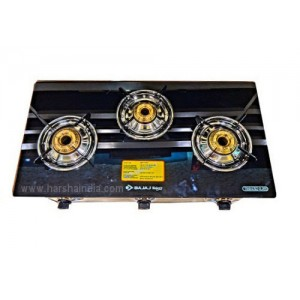 Bajaj Gas Stove Glass Top 3 Burner CGX3 Eco SS 450136