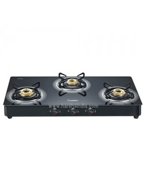 Prestige Gas Stove Glass Top 3 Burner Royale Plus Schott GT 03L 40177