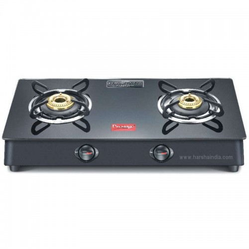 Prestige Gas Stove Glass Top 2 Burner Marvel Plus GTM 02-Black 40084