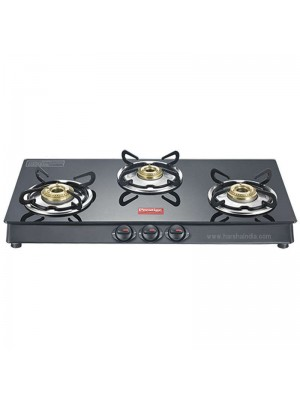 Prestige Gas Stove Glass Top 3 Burner Marvel GTM 03L Black 40180