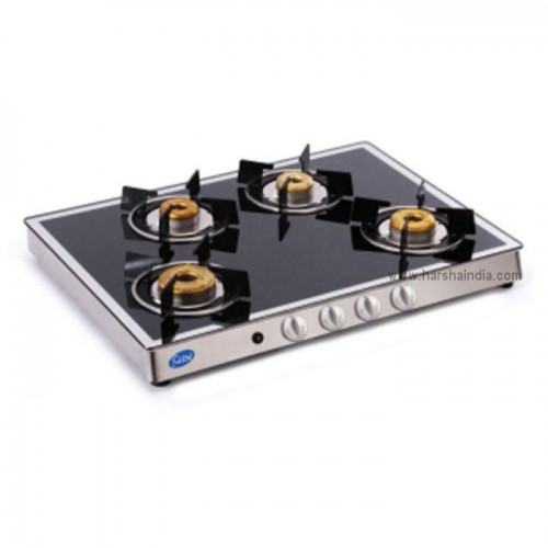 Glen Gas Stove Glass Top 4 Burner GL-1048 AI Forged BB Mirror