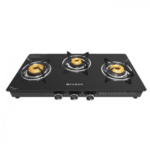 Faber Gas Stove Glass Top 3 Burner Splendor 3BB BK