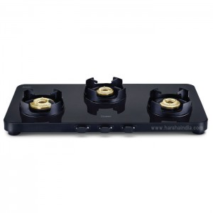 Prestige Edge Gas Stove Glass Top EPEBS-03 With Aluminium Frame & 3 Brass Burner 40186