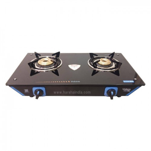 Vidiem Gas Stove Glass Top 2 Burner Viva Sky