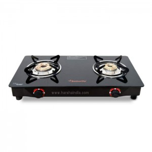 Butterfly Gas Stove Glass Top LPG Stove 2B Duo