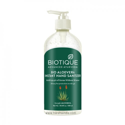 Biotique Bio Hand Sanitizer 300ml Aloevera Instant