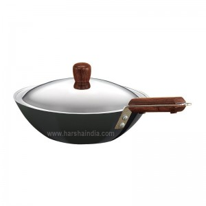 Hawkins Futura Hard Anodised Deep Fry Pan Medium 2.5L L21 With Lid