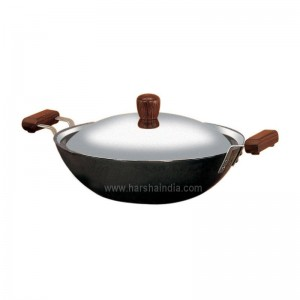 Hawkins Futura Hard Anodised Deep Fry Pan Medium 2.5L L23 With Lid