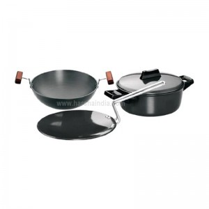 Hawkins Futura Hard Anodised Cookware Set 4 LS5