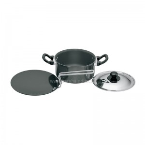 Hawkins Futura Hard Anodised Cookware Set 5 LS6
