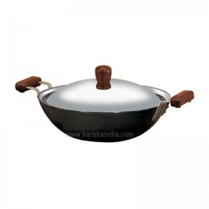 Hawkins Futura Hard Anodised Deep Fry Pan Induction Base 2.5L IL23 With Lid