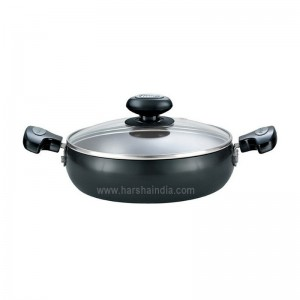 Prestige Hard Anodised Plus Induction Base Saute Pan With Glass Lid Dia 240MM 35040