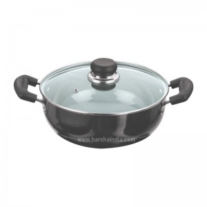 Vinod Hard Anodised Deep Kadai 34CM With Lid