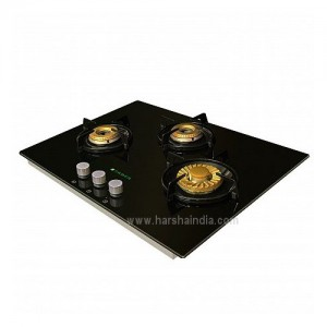 Faber Hob 3 Burner HGG 653 CRR BR E I Black Glass