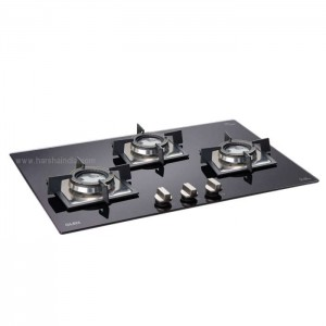 Glen Built In Hob GL 1073 SQ Double Brass TR