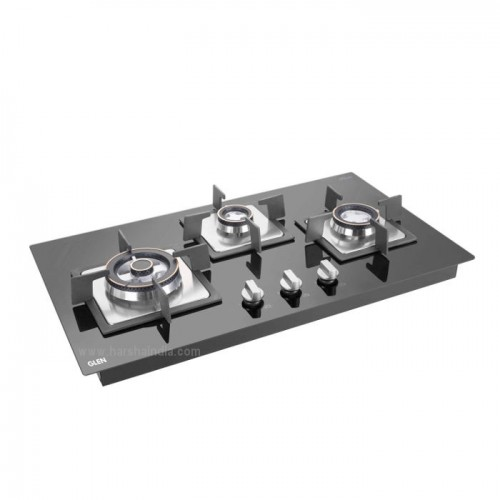 Glen Built In Hob 3 Burner GL-1073 SQ HT Double Brass TR
