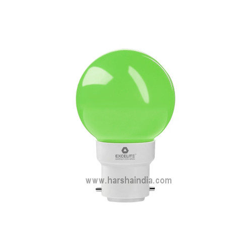 Excelite LED Lamp 0.5W B22 Green