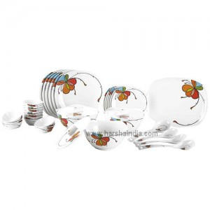 Borosil Melamine Ware Dinner Set Symphony 35Pcs Vibgyor