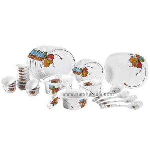 Borosil Melamine Ware Dinner Set Platino 35Pcs Vibgyor