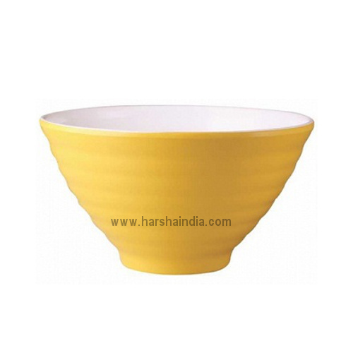 Borosil Melamine Ware Serving Bowl Bonny Golden Yellow