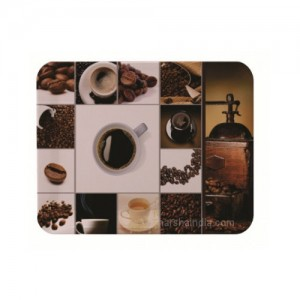 Borosil Melamine Ware Elissa Large Tray 38 x 27CM Coffee Time