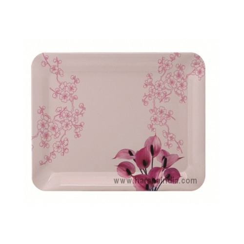 Borosil Melamine Ware Elissa Small Tray 23 x 17CM Spring Pink