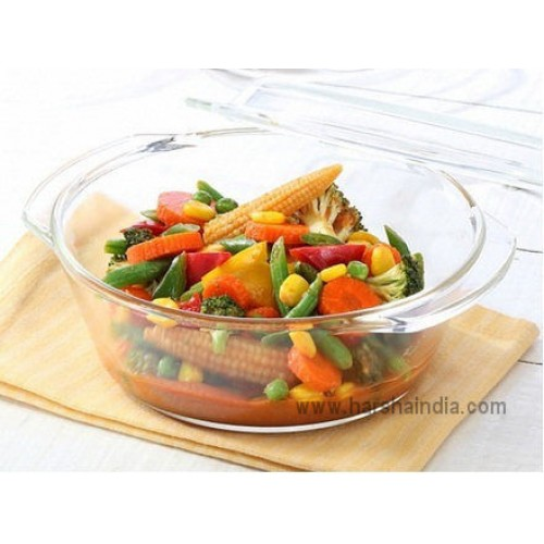 Borosil INT Round Casserole 1.0L With Lid