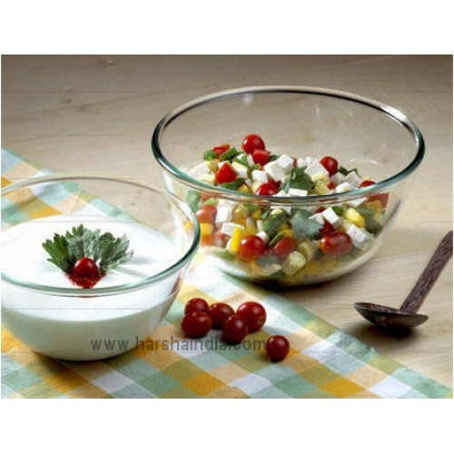 Borosil INT Mixing Bowl Set 1.3+2.5