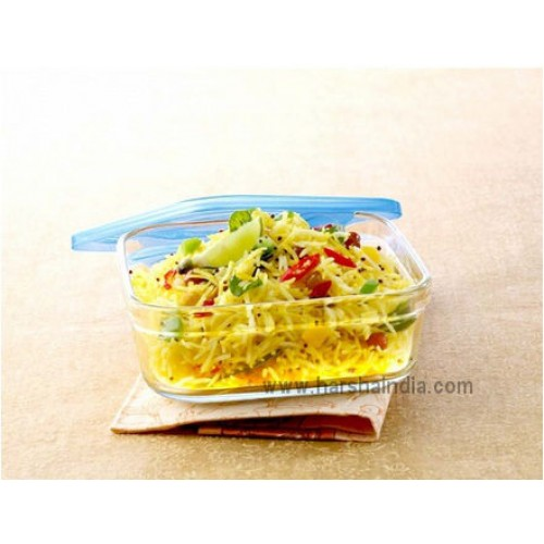 Borosil Square Dish 3-IN-1 0.75L With Lid